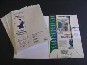 Gloss White Presentation Folders Pkt 25