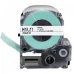 236BW K-Sun 36mm Black on White Label Tape