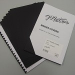 Matt Black Binding Covers A4