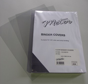 ACA4 A4 Clear Binding Covers 250 Micron