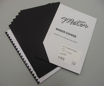 CCBK A4 Black Matt Binding Covers
