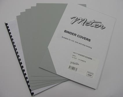 CCGY A4 Grey Matt Binding Covers