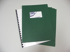 Green Binding Covers with Window