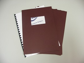 Maroon Binding Covers with Window