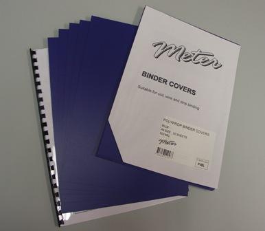 PVBL Blue A4 Polypropylene Binding Covers 600 Micron