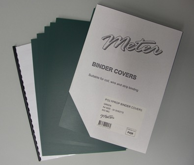 PVGR Green A4 Polypropylene Binding Covers 600 Micron