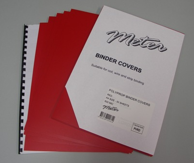 PVRD Red A4 Polypropylene Binding Covers 600 Micron