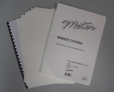 PVWH White A4 Polypropylene Binding Covers 600 Micron