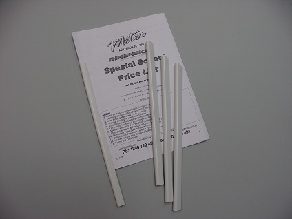 10mm White Slide Binders