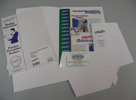 White Gloss Presentation Folders Pkt 100