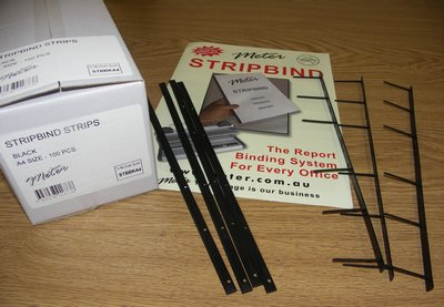 Black Stripbind Strips A4