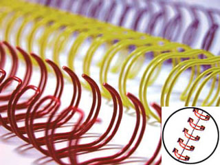 Wire Binding Coils 34 Ring 3:1 Pitch