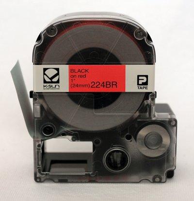 224BR K-Sun 24mm Black on Red Label Tape