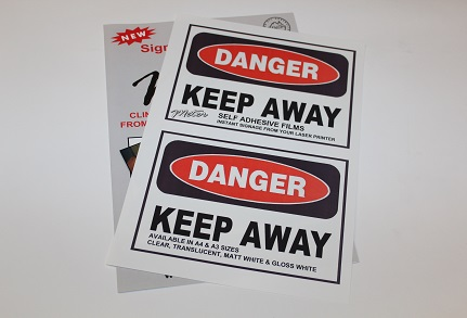 Meter A4 White Waterproof Labels