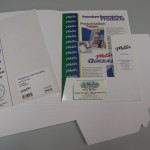 Gloss White Presentation Folders Pkt 100