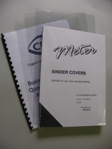 A4 Clear Binding Covers