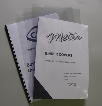 AC150 A4 Clear Binding Covers 150 Micron