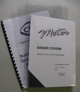 AC200 A4 Clear Binding Covers 200 Micron