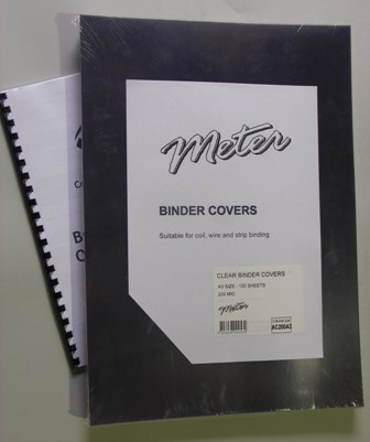 AC200A3 A3 Clear Binding Covers 200 Micron