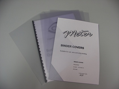 A4 Frosted Binding Covers