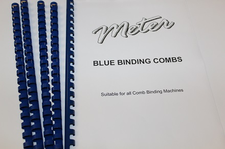 Blue Binding Combs