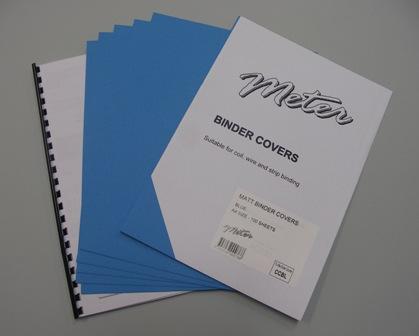 CCBL A4 Blue Matt Binding Covers