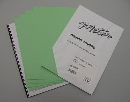 CCGR A4 Green Matt Binding Covers