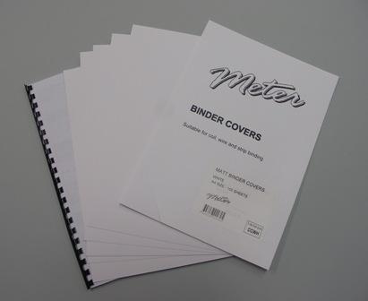 CCWH A4 White Matt Binding Covers