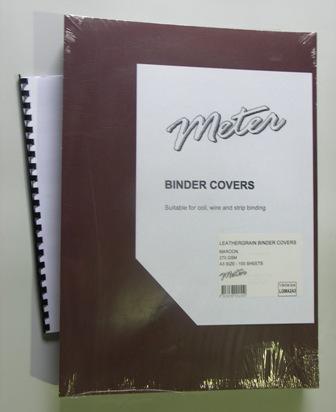 LGMA2A3 Maroon A3 Leathergrain Binding Covers