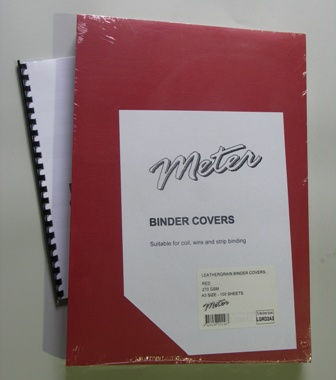 LGRD2A3 Red A3 Leathergrain Binding Covers