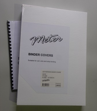 White Leathergrain Binding Covers