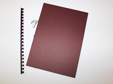 Maroon Leathergrain Binding Covers