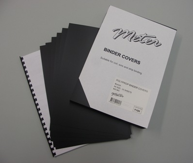 PVBK Black A4 Polypropylene Binding Covers 600 Micron