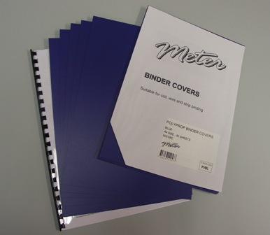 PVBL Blue A4 Polypropylene Binding Covers 600 Micron
