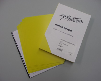 PVYE Yellow A4 Polypropylene Binding Covers 600 Micron