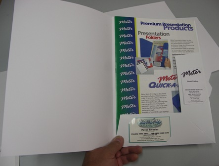 Gloss White Presentation Folders Pkt 50