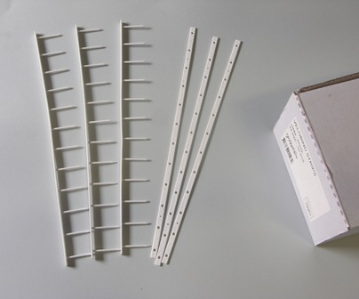 White Velobind Strips