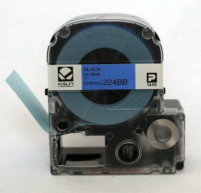 224BB K-Sun 24mm Black on Blue Label Tape